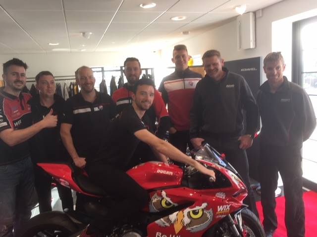 Big thank you to Glenn Irwin from all the team at peterborough... now at cambridge till 5 o'clock! #BSB #ducatiuk