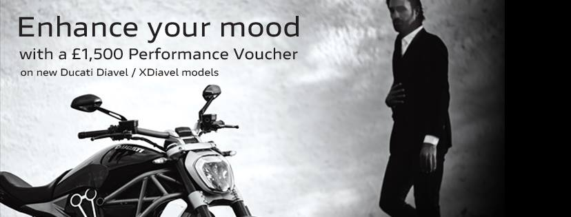 £1,500 Performance Vouchers available until the end of the year on new Ducati Diavel and XDiavel models. Please contact Vindis Ducati Cambridge or Peterborough or visit www.vindisducati.com for more details.