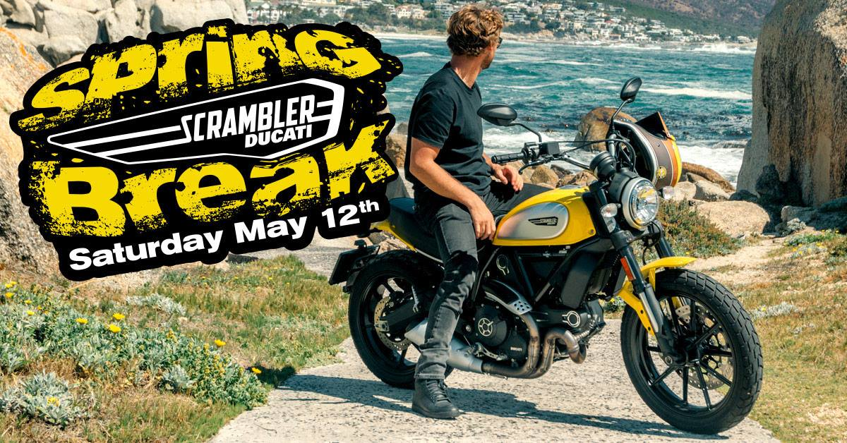 Join us in-store at Peterborough for our Spring Break open day, dedicated to all things Scrambler, with special offers on apparel & accessories, test rides, food, music and competitions. #RideAgain #ridebigger https://www.ducati.com/gb/en/editorial/scrambler-spring-break