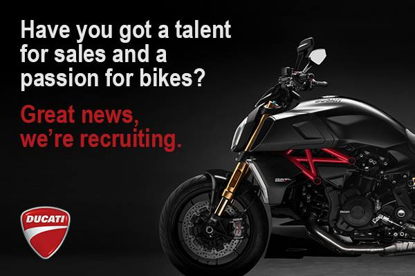 Want to join our team at Vindis Ducati? We are recruiting, for more information please visit https://www.jobtrain.co.uk/vindisgroup/displayjob.aspx?jobid=2258
